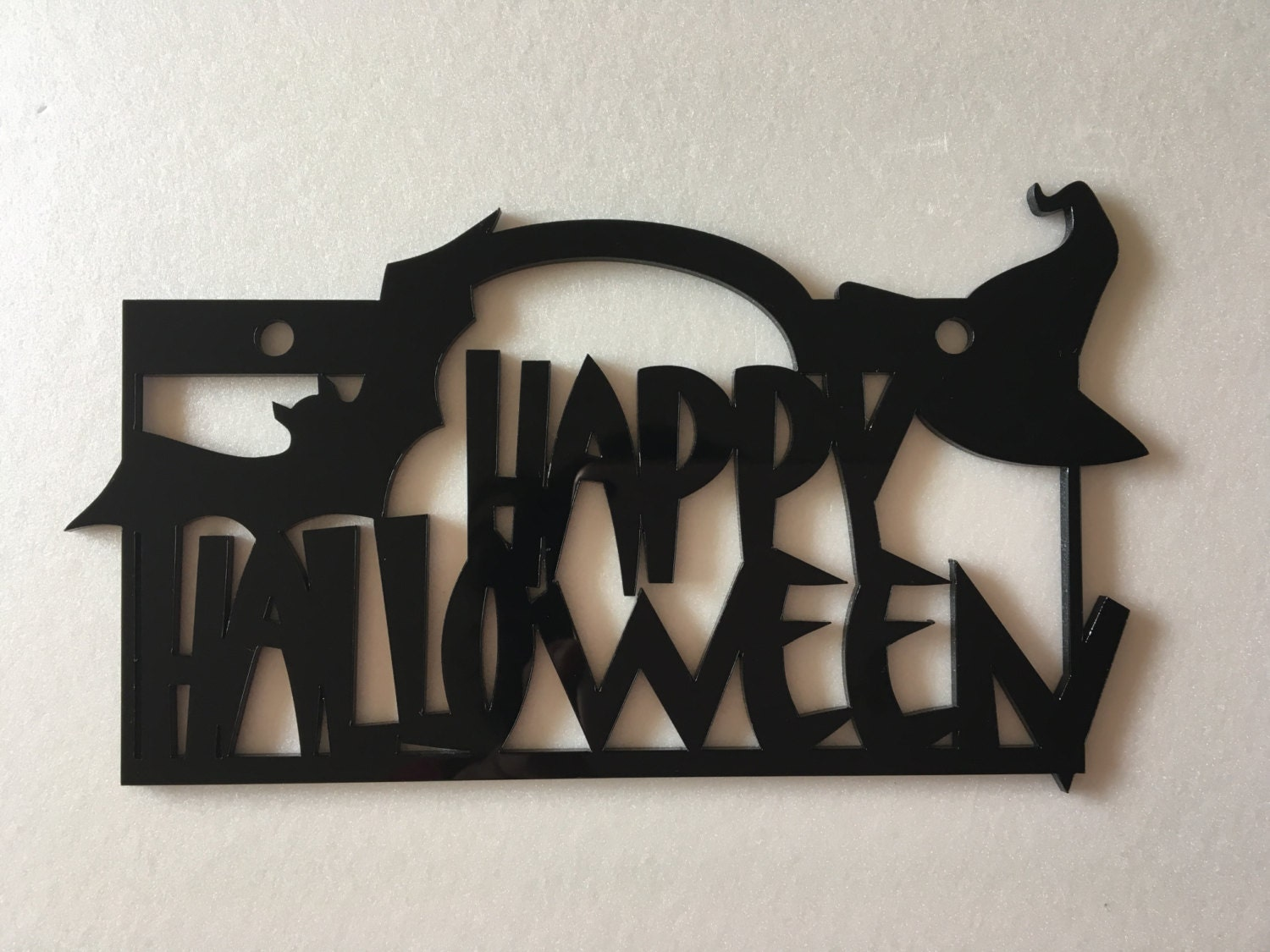 Happy Halloween Sign Halloween Door Sign Halloween Bat ~ 111043_Halloween Zaag Door Hoofd