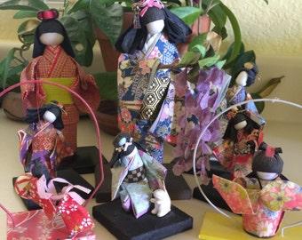 Japanese Washi Ningyo Paper Doll Collection