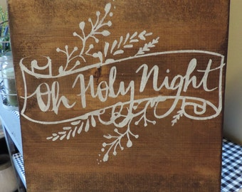 SALE ITEM!! Rustic wooden Christmas sign