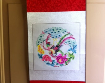 Vintage Chinese Paper Cutting Scroll