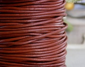 5 yards Saddle Brown,  2mm Leather Cord, Jewelry Supply, Braided Bracelets