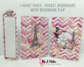 I HEART PARIS (TN) Dashboard with Bookmark Flap | 5 Sizes | DB032