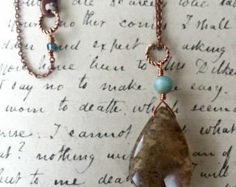 Copper Rutilated Quartz Necklace