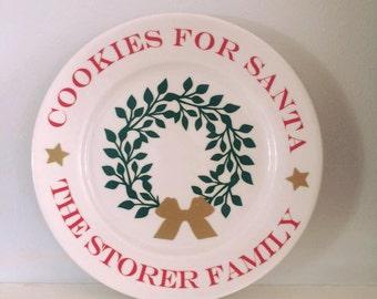 Custom Santa Plate