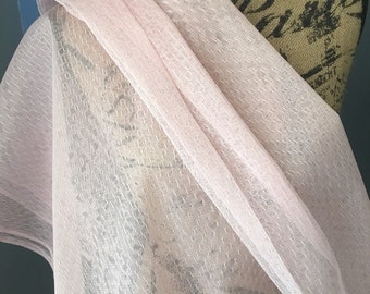 Primrose Pink Point D' Esprit bridal selcial occasion fabric 1 yard