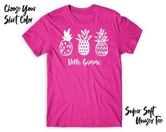 DG Delta Gamma Pineapple Trio Choose Your TShirt Color!