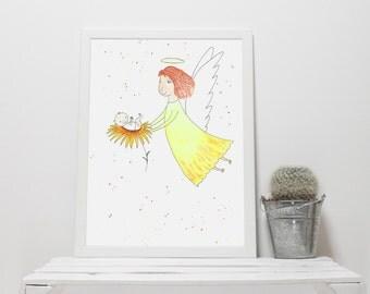 ANGEL print art, wall decor