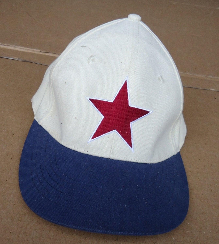 vintage negro league detroit baseball cap by