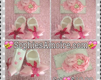 Minnie Inspired*Baby Minnie Shoes*Infants Shoe Set*Baby Girls Shoes*Disney Trip Shoes*