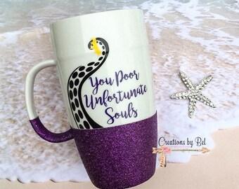 You Poor Unfortunate Souls Latte Mug / Ursula Coffee Mug / Little Mermaid Coffee Mug / Ariel Coffee Mug / Ariels Voice Box