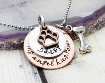 Pet Memorial Jewelry Personalized Pet Memorial Necklace