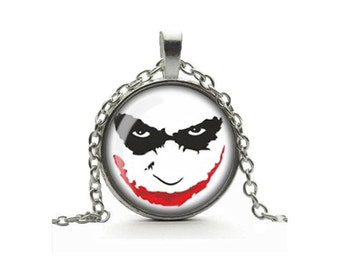 The Joker Pendant Necklace Glass Cameo Cabochon Tile Necklace Jewellery - Batman