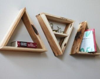 """16"""" Hickory Triangle Shelves"""