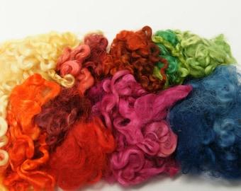 Wensleydale Locks Assorted Colors for Felting, Fiber Arts