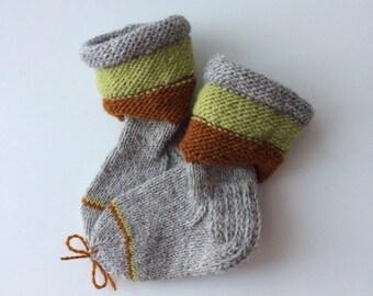 Wool socks for kids, toddlers, winter socks grey