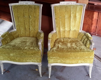 Vintage Pair of French Provincial Chairs