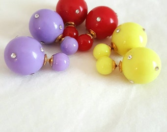 Double sided Crystal decorated back balls