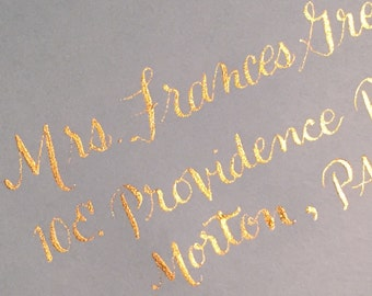 Wedding address calligraphy