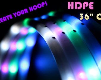 """LED Hula Hoop - HDPE 36"""" Outer Diameter - Create Your Own Hoop! By HoopNerd"""