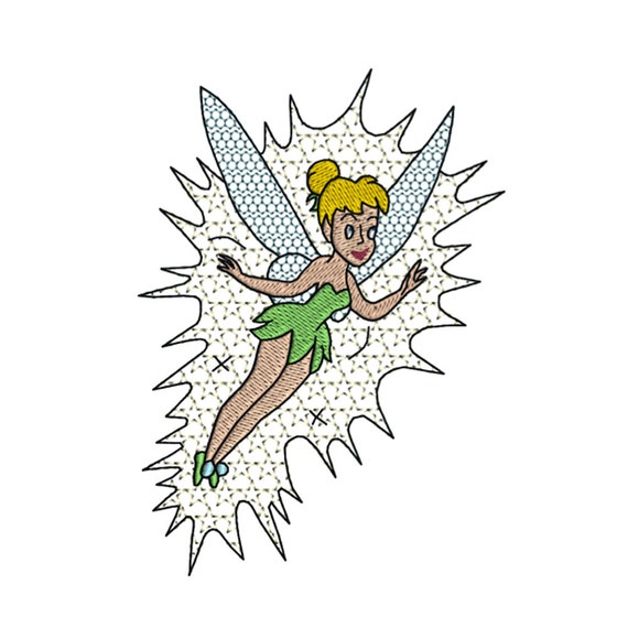 tinkerbell machine embroidery design