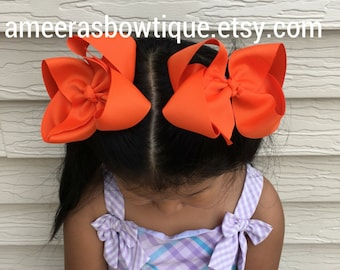 Hair bows for girls, girls hairbows, twisted hair bows, large hair bows, kids hairbows, Hair clips, solid hair bows, hair bow for little