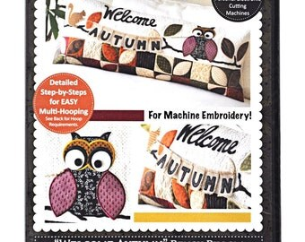Welcome Autumn Bench Pillow for Machine Embroidery KD526