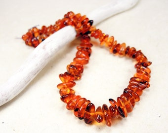 Vintage Baltic Amber Beads - Natural Amber Loose from USSR 28.45gr