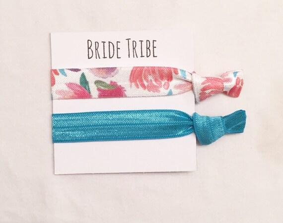 Bridesmaid hair tie favors//hair tie card//hair tie favor//elastic hair ties//bridesmaid gift