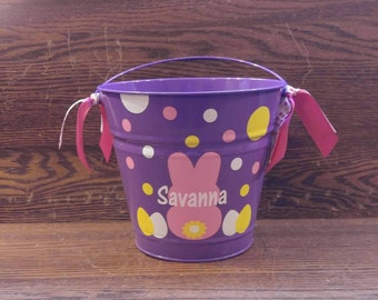 Personalized Easter Tub, Personalized Easter Bucket, Monogrammed Easter Tub