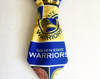 Golden State Warriors Dog/Cat Tie, Pet Necktie