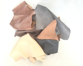 Leather Scraps 1 Pound Mix and Match
