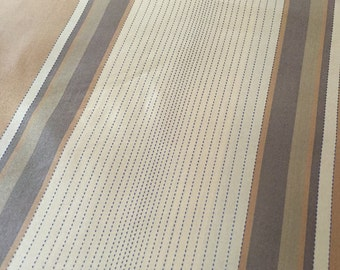 7 Yards Striped Silk Taffeta Fabric, Butterscotch Caramel Cream and Grey Gray Silk Fabric, Topstitched Textured Silk Fabric, Wide Stripe Sil
