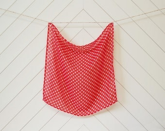 Square Red Polka Dot (Small)