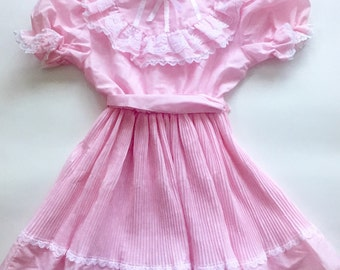 Vintage 70s 1970s Sears size 6 pink dress new old stock NOS with tags