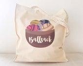 Knitting Tote Bag Ballsack tote Ball Bag Crafters Gift