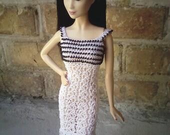 Handmade crochet clothes for Barbie
