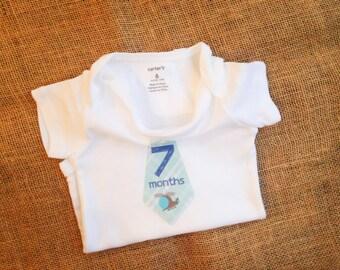 Seven Months Onesie - Baby Boy