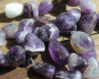 Banded Amethyst Crystal Stones// Healing Crystals and Stone