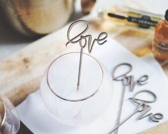 Love - Drink Stirrers. Set of 4