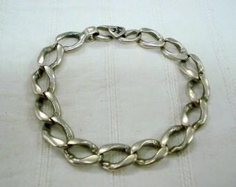 vintage antique tribal old silver bracelet link chain bracelet cuff bracelet