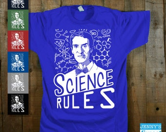 Science Rules  | Science Shirt | Retro-B16
