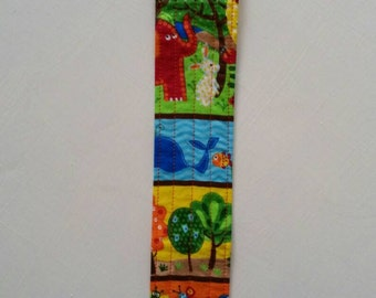 Sippy cup leash - toy leash - snack cup leash - quilted toy strap - toy tether - ready to ship