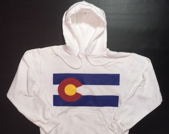 Colorado Flag Screen Printed Hoodie