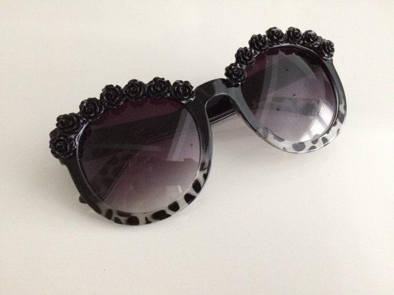 New York Snow Leopard Black Festival Sunglasses