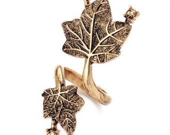 Maple Leaf Gold Ring