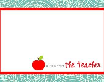 Swirl Teacher Note Cards