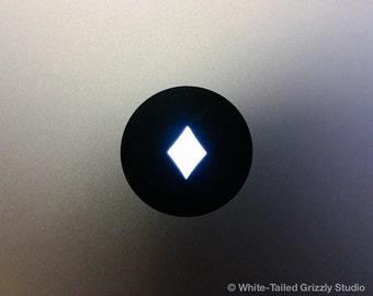 DIAMONDS MACBOOK DECAL - Macbook Apple decal - Macbook Apple light cover - Mac Decal - Apple Laptop - Cards Decal - Suit of Diamonds