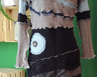 No. 144 - Shabby Chic Eco Friendly Recycled Sweater Dress - Size M