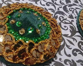 Green and Gold Pasties