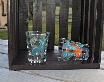 Koi fish rocks glasses